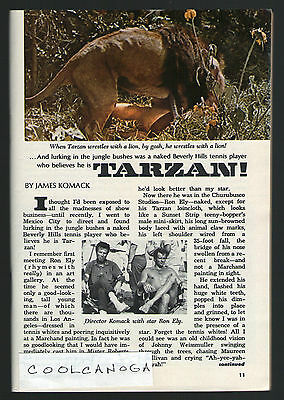 1967 Tv Guide Article ~ RON ELY is TARZAN ~ Wrestling a Lion ~ 3 Pages