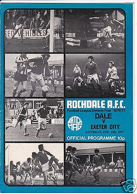 ROCHDALE V EXETER CITY   4TH DIVISION   19/2/77