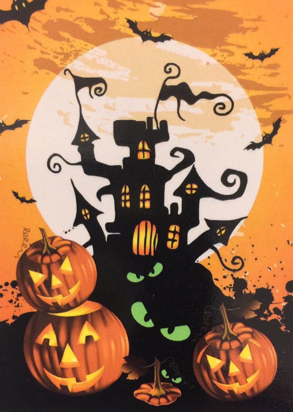 "Halloween Haunted House Garden Flag 12"" X 18"" Halloween Deco"