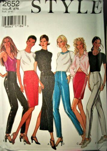 Miss Style 2652 Pattern Cigarette Leg Pants Skirts UNCUT FF Size 6-8-10-12-14-16