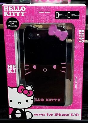 NEW Hello Kitty Apple iPhone 5/5s Case BLACK/PINK by Sanrio kids girly design ()