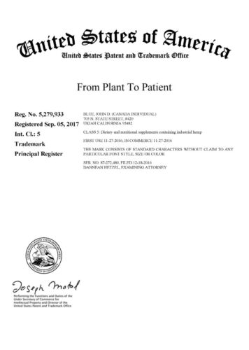 From Plant To Patient® > OWN this PRIMO Federal registered brand name