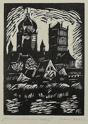 Franz Egert: Expressionistischer Linolschnitt um 1925. Münster.