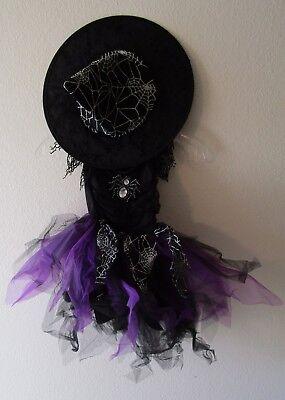 NWT Authentic Kids Girls Halloween Cute Witch Costume 4 Black/Purple