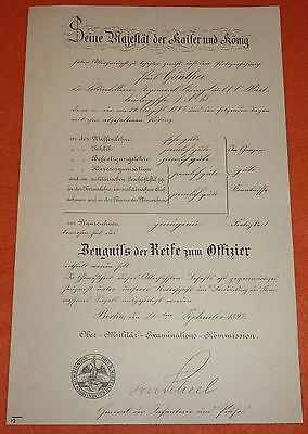 Feldartillerie-Regiment K�nig Karl Nr.13 Urkunde Kaiser Wilhelm II. Autograph