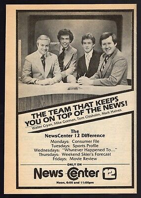 1979 Wpri Tv News Ad Walter Cryan Mike Gorman Tom Chisholm Mark Haynes