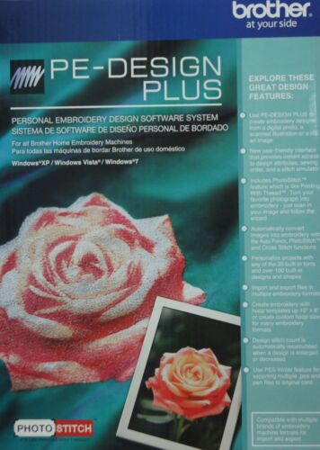Brother PE Design Plus - Embroidery Digitizing Lettering Software + Photostitch