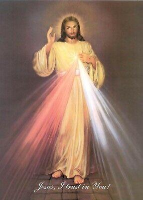 Divine Mercy Image Icon Jesus Christ Christian Miraculous Devotion A5 Print