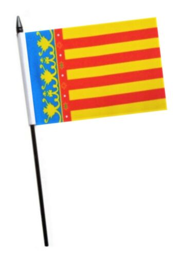 Spain Valencia Small Hand Waving Flag