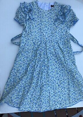 David Charles girls dress Size 6 Floral Sundress Blue