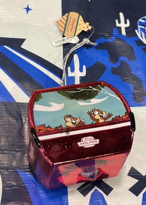 Disney Parks Skyliner Ornament Mickey Minnie Chip Dale Pluto Blown Glass 💥🔥