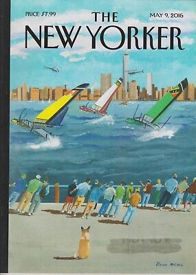 The New Yorker May 9, 2016 Cover: Regatta on the Hudson,  Melania Trump, Donald'