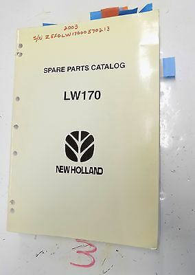 New Holland Lw170 Spare Parts Catalog Wheel Loader 1999