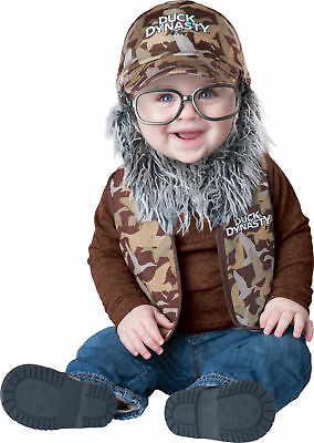 Duck Dynasty Baby Uncle Si Toddler Costume Boy Vest Infant Theme Party Halloween (Duck Dynasty Halloween Costumes Toddler)