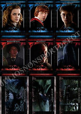 HARRY POTTER HEROES AND VILLAINS 2010 ARTBOX BASE CARD SET OF 54 MOVIE