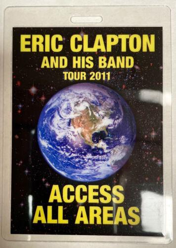 ERIC CLAPTON 2011 AAA LAMINATED BACKSTAGE PASS