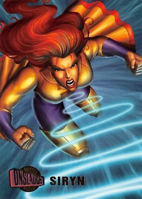 SIRYN / Marvel Onslaught Ultra (1996) BASE Trading Card #37 - Siryn Marvel