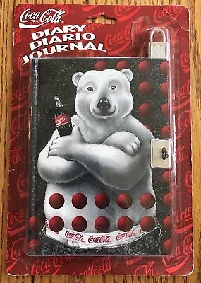 Coca Cola Polar Bear Diary Journal With Lock Stuart Hall 1996 NIP