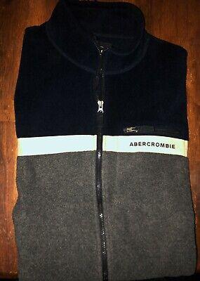 Men's Abercrombie & Fitch Full Zip Fleece Vest - Size XL