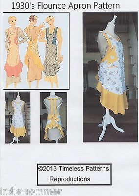 Vintage McCalls 1930s Fabric Apron W/ Flounce, Reproduction Sewing Pattern #248