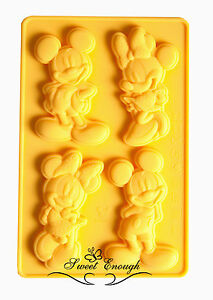 Mickey Minnie Mouse Disney silicone mould sugarcraft chocolate cup cake mold