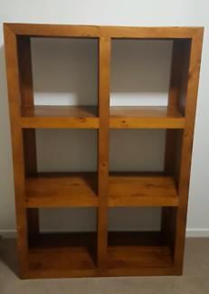 Timber 6 cube bookcase/shelving unit