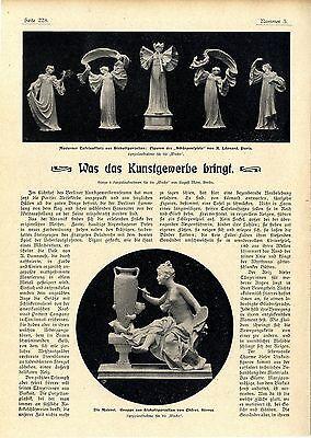 Porzellan v. A.Léonard Paris Chéret Serres K.Spindler St.Léonard i.E. Kunst 1901