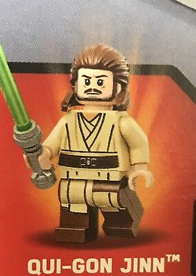 Lego Star Wars Minifigure Qui-Gon Jinn Split From The Set 75169 Duel On Naboo