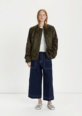 Authentic Acne Studios Bomber Jacket Green Size 36
