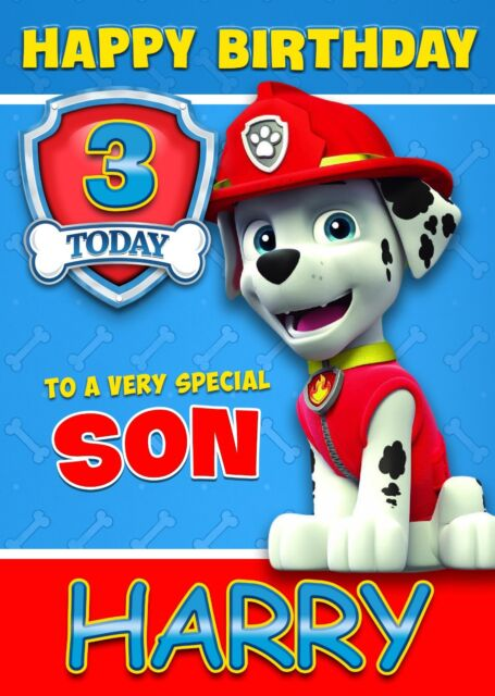 Paw patrol marshall personalised birthday card age son brother paw patrol marshall personalised birthday card age son brother nephew grandson bookmarktalkfo Images