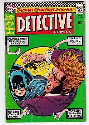 Detective Comics #352 VG+ 4.5 Robin Batman Elongated Man The Cluemaster 1966!