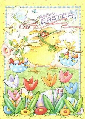 Mary Engelbreit-HAPPY EASTER Chick Jelly Beans Egg Baskets Greeting Card-NEW!