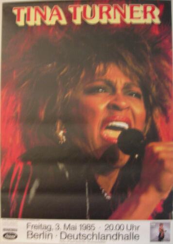 TINA TURNER CONCERT TOUR POSTER 1985 PRIVATE DANCER BERLIN