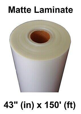Matte Clear Self-adhesive Pvc Protective Laminate 3yr Vinyl Roll 43 X 150
