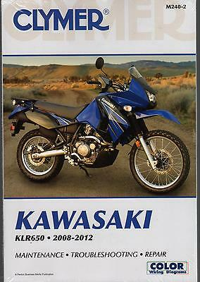 2008-2012 Clymer Kawasaki Motorcycle Klr650 Service Manual M240-2 Free Ship