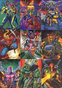 MARVEL 1994 FLEER FLAIR UNIVERSE COMPLETE BASE CARD SET OF 150