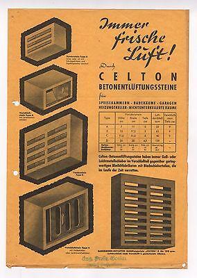 Prospekt, CELTON Betonlüftungssteine für Speisekammern Baderäume Garagen Heizung