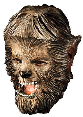 Wolfman Latex Deluxe Adult Mask Scary Werewolf Monster Theme Party Halloween - Halloween Party Themes Adults