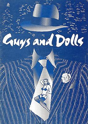 "Alan Rickman ""GUYS & DOLLS"" Frank Loesser 1975 Leicester, England Program"