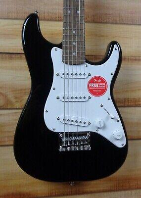 New Squier® Mini Strat v2 Electric Guitar Black