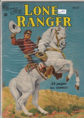 1950 Dell TV comic, Lone Ranger #21