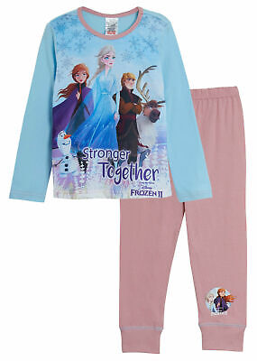 Disney Frozen 2 Stronger Together Pyjamas -Kids Elsa Anna Olaf Pjs Nightwear