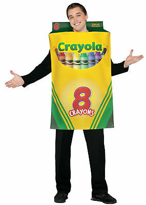 ADULT CRAYOLA CRAYON BOX SCHOOL MASCOT COSTUME DRESS GC4520