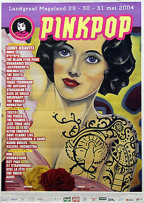 Pinkpop Festival Poster 2004 The Netherlands Black Eyed Peas Muse Lenny Kravitz