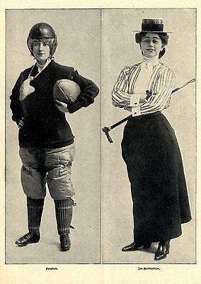 American Girls Historischer Foto-Sport-Report  von 1902