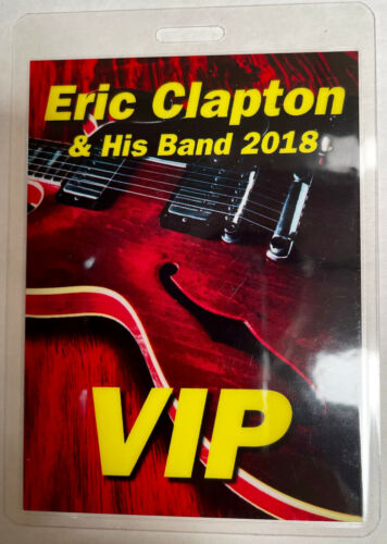 ERIC CLAPTON 2018 VIP LAMINATED BACKSTAGE PASS RED