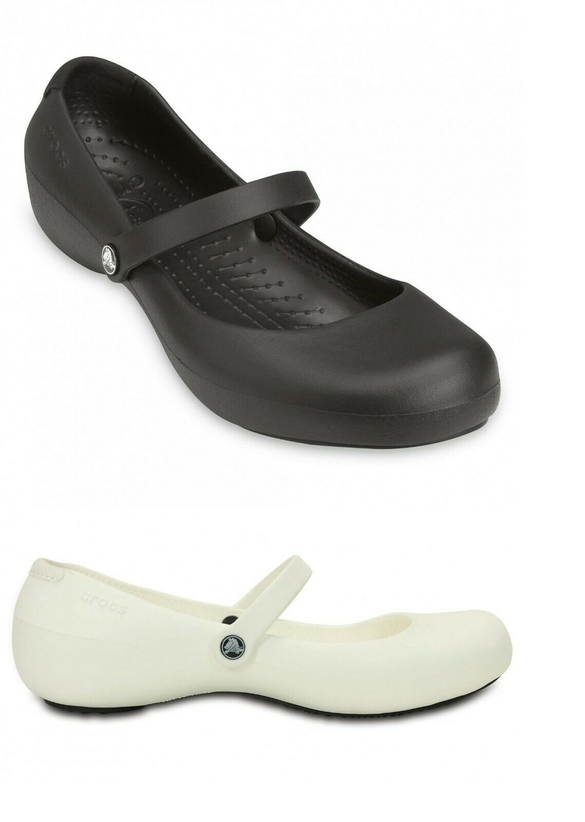 Alice Crocs Womens Alice  Croslite Slip Resistance Mary Jane Work Shoes