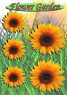en Dekor Set 5-tlg. - Auto Bully Flower Power Sonnenblume  (Sonnenblumen-dekor)