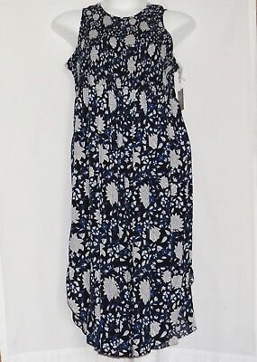 Maternity Dress MEDIUM Smocked Midi Dress NEW NWT A Glow Floral Flowers 8 10 M