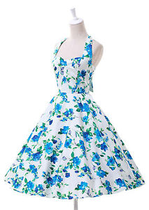 Vintage Style Swing 1950s 1960s Housewife Retro Pinup Rockabilly EVENING Dress